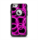 The Vibrant Pink Glowing Cells Apple iPhone 6 Otterbox Commuter Case Skin Set