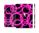The Vibrant Pink Glowing Cells Full Body Skin Set for the Apple iPad Mini 3