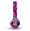 The Vibrant Pink Glowing Cells Skin for the Beats by Dre Mixr Headphones