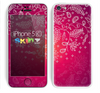 The Vibrant Pink & White Branch Illustration Skin for the Apple iPhone 5c