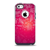 The Vibrant Pink & White Branch Illustration Skin for the iPhone 5c OtterBox Commuter Case