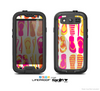 The Vibrant Pink & Yellow Flip-Flop Vector Skin For The Samsung Galaxy S3 LifeProof Case