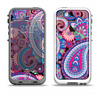 The Vibrant Purple Paisley V5 Apple iPhone 5-5s LifeProof Fre Case Skin Set