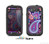 The Vibrant Purple Paisley V5 Skin For The Samsung Galaxy S3 LifeProof Case