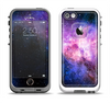 The Vibrant Purple and Blue Nebula Apple iPhone 5-5s LifeProof Fre Case Skin Set