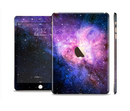 The Vibrant Purple and Blue Nebula Full Body Skin Set for the Apple iPad Mini 3
