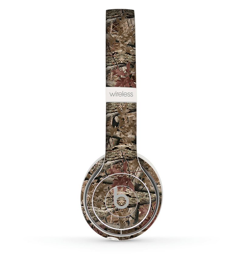 The Vibrant Real Woods Camouflage V2 Skin Set for the Beats by Dre Solo 2 Wireless Headphones