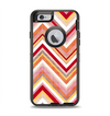 The Vibrant Red & Yellow Sharp Layered Chevron Pattern Apple iPhone 6 Otterbox Defender Case Skin Set