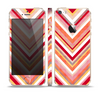 The Vibrant Red & Yellow Sharp Layered Chevron Pattern Skin Set for the Apple iPhone 5s