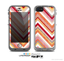 The Vibrant Red & Yellow Sharp Layered Chevron Pattern Skin for the Apple iPhone 5c LifeProof Case