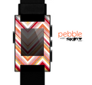 The Vibrant Red & Yellow Sharp Layered Chevron Pattern Skin for the Pebble SmartWatch