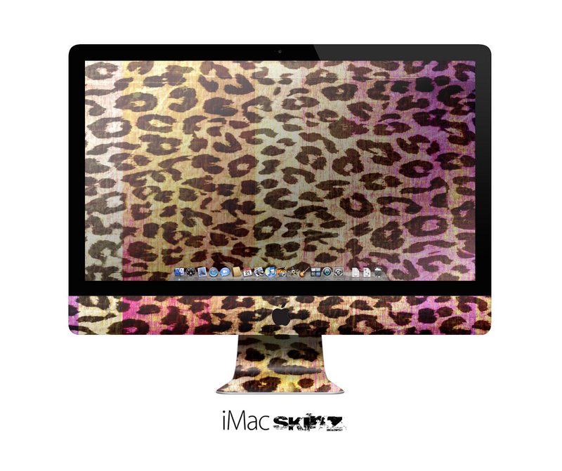 The Vibrant Striped Cheetah Animal Print Skin for the Apple iMac 27 Inch Desktop Computer for the iMac