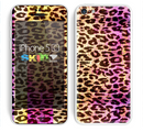 The Vibrant Striped Cheetah Animal Print Skin for the Apple iPhone 5c