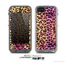 The Vibrant Striped Cheetah Animal Print Skin for the Apple iPhone 5c LifeProof Case