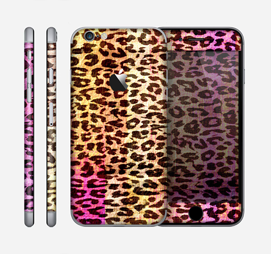 The Vibrant Striped Cheetah Animal Print Skin for the Apple iPhone 6