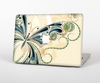 The Vibrant Tan & Blue Butterfly Outline Skin Set for the Apple MacBook Air 13""