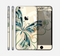 The Vibrant Tan & Blue Butterfly Outline Skin for the Apple iPhone 6 Plus