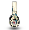 The Vibrant Tan & Blue Butterfly Outline Skin for the Original Beats by Dre Studio Headphones
