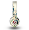 The Vibrant Tan & Blue Butterfly Outline Skin for the Original Beats by Dre Wireless Headphones