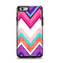 The Vibrant Teal & Colored Chevron Pattern V1 Apple iPhone 6 Otterbox Symmetry Case Skin Set