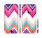 The Vibrant Teal & Colored Chevron Pattern V1 Sectioned Skin Series for the Apple iPhone 6s