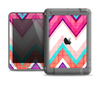 The Vibrant Teal & Colored Chevron Pattern V1 Apple iPad Air LifeProof Fre Case Skin Set