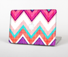 The Vibrant Teal & Colored Chevron Pattern V1 Skin Set for the Apple MacBook Air 13""