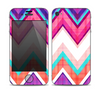 The Vibrant Teal & Colored Chevron Pattern V1 Skin for the Apple iPhone 4-4s
