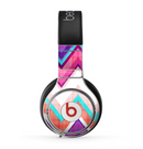 The Vibrant Teal & Colored Chevron Pattern V1 Skin for the Beats by Dre Pro Headphones