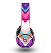 The Vibrant Teal & Colored Chevron Pattern V1 Skin for the Original Beats by Dre Studio Headphones