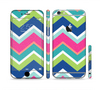 The Vibrant Teal & Colored Layered Chevron V3 Sectioned Skin Series for the Apple iPhone 6 Plus