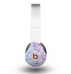 The Vibrant Vintage Polka & Sketch Pink-Blue Floral Skin for the Beats by Dre Original Solo-Solo HD Headphones