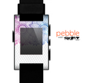 The Vibrant Vintage Polka & Sketch Pink-Blue Floral Skin for the Pebble SmartWatch