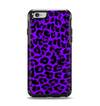The Vibrant Violet Leopard Print Apple iPhone 6 Otterbox Symmetry Case Skin Set