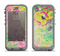 The Vibrant Yellow Colored Dots Apple iPhone 5c LifeProof Nuud Case Skin Set