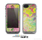 The Vibrant Yellow Colored Dots Skin for the Apple iPhone 5c LifeProof Case