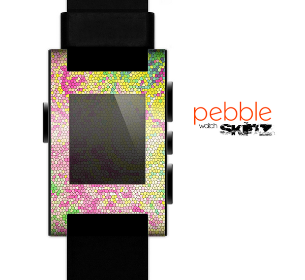 The Vibrant Yellow Colored Dots Skin for the Pebble SmartWatch