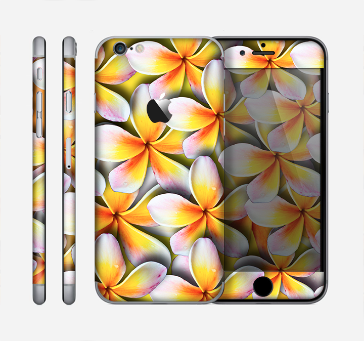 The Vibrant Yellow Flower Pattern Skin for the Apple iPhone 6