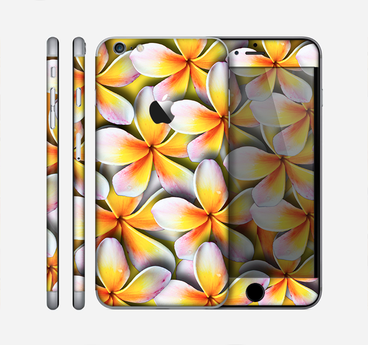 The Vibrant Yellow Flower Pattern Skin for the Apple iPhone 6 Plus