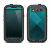 The Vinatge Blue Overlapping Cubes Samsung Galaxy S3 LifeProof Fre Case Skin Set