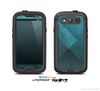 The Vintage Blue Overlapping Cubes Skin For The Samsung Galaxy S3 LifeProof Case