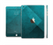 The Vinatge Blue Overlapping Cubes Full Body Skin Set for the Apple iPad Mini 3