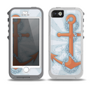 The Vintage Blue Striped & Chained Anchor Skin for the iPhone 5-5s OtterBox Preserver WaterProof Case