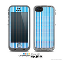The Vinatge Blue Striped Pattern V4 Skin for the Apple iPhone 5c LifeProof Case