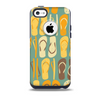 The Vinatge Blue & Yellow Flip-Flops Skin for the iPhone 5c OtterBox Commuter Case