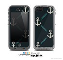 The Vintage Solid Color Anchor Collage All Skin for the Apple iPhone 5c LifeProof Case
