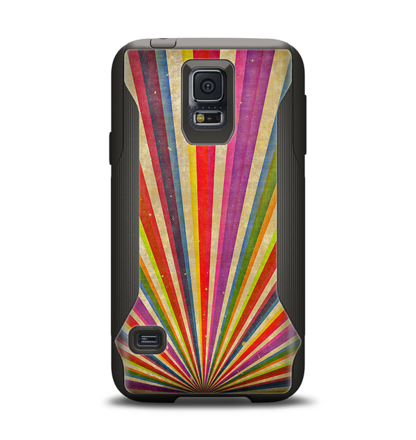 The Vinatge Sprouting Ray of colors Samsung Galaxy S5 Otterbox Commuter Case Skin Set