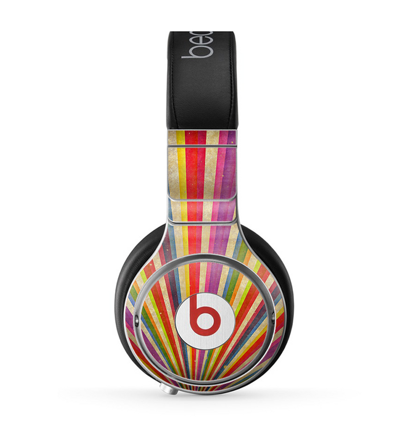 The Vintage Sprouting Ray of colors Skin for the Beats by Dre Pro Headphones