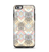 The Vintage Abstract Owl Tan Pattern Apple iPhone 6 Plus Otterbox Symmetry Case Skin Set