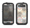The Vintage Abstract Owl Tan Pattern Samsung Galaxy S3 LifeProof Fre Case Skin Set